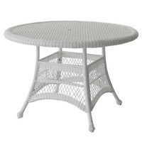 shop corsica outdoor wicker round dining table only by christopher