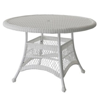 Exceptionnel Round Resin Wicker Dining Table