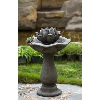 Lotus Flower and Frog Tiers Water Fountain