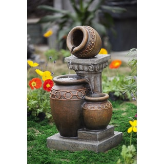 Classic 3-pot and Column Water Fountain