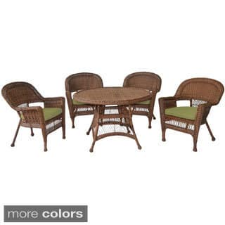 Honey Wicker 5-piece Cushioned Outdoor Dining Set|https://ak1.ostkcdn.com/images/products/9183550/P16357949.jpg?impolicy=medium