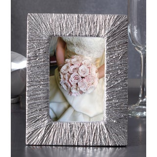 Silver Etched 4x6 Aluminum Photo Frame