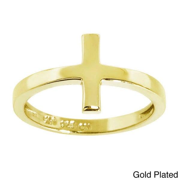 Eternally Haute Sterling Silver Midi Cross Knuckle Ring