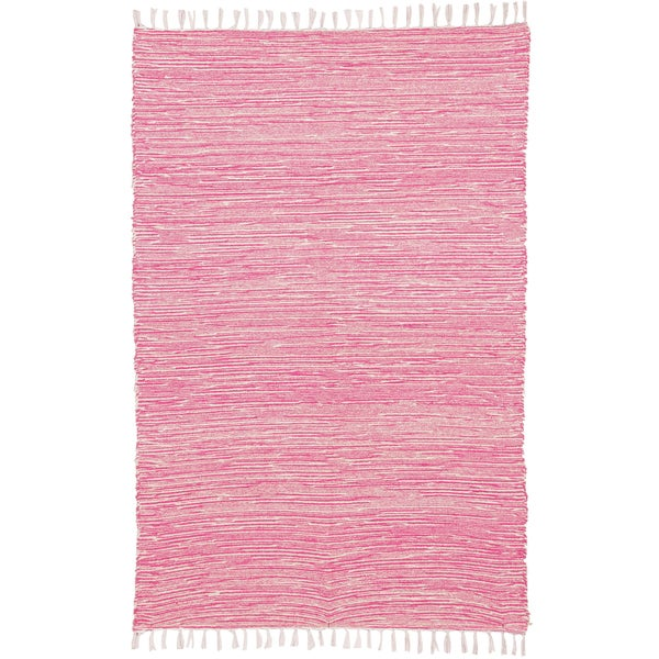 Pink Reversible Chenille Flat Weave Area Rug - 10' x 14'