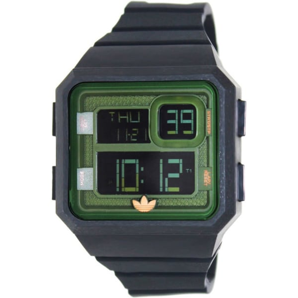 Adidas Men's Santiago ADH2883 Black Silicone Quartz Watch with Digital Dial