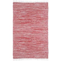 Red Reversible Chenille Flat Weave Area Rug (3' x 5')
