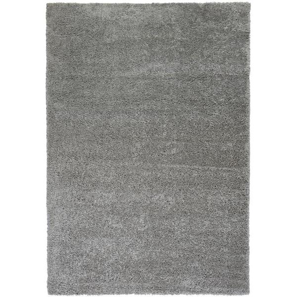 Well woven plain solid grey thick plush shag area rug 6 39 7 for Thick area rugs sale