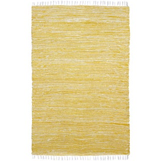 Yellow Reversible Chenille Flat Weave Area Rug (10' x 14')