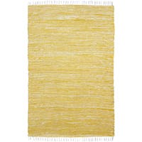 Yellow Reversible Chenille Flat Weave Area Rug - 10' x 14'