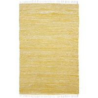 Yellow Reversible Chenille Flat Weave Area Rug - 9' x 12'