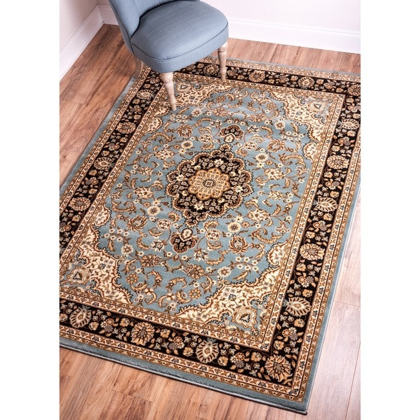 "Well Woven Medallion Traditional Light Blue Area Rug - 9'3"" x 12'6"""