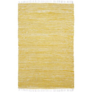 Yellow Reversible Chenille Flat Weave Area Rug - 3' x 5'