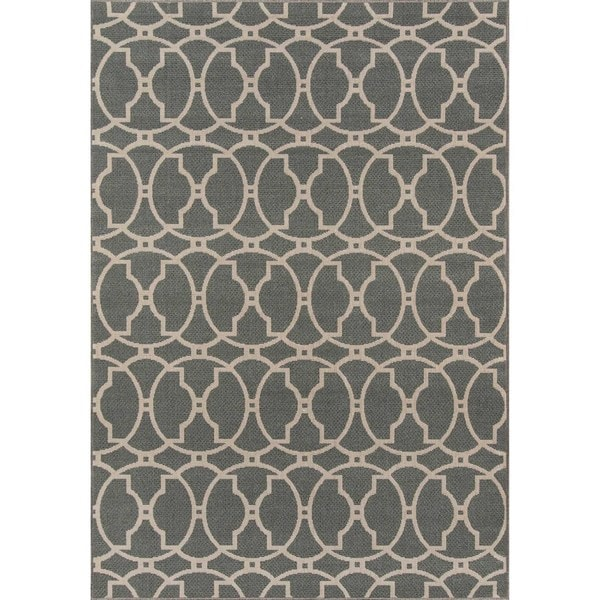 "Momeni Baja Moroccan Tile Grey Indoor/Outdoor Area Rug - 8'6"" x 13'"