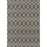 "Momeni Baja Moroccan Tile Grey Indoor/Outdoor Area Rug (8'6 x 13') - 8'6"" x 13'"