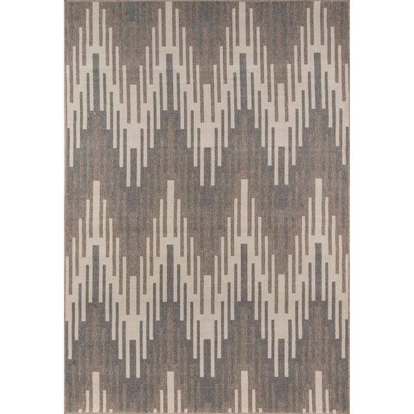 Momeni Baja Ikat Ivory Indoor/Outdoor Area Rug (8'6 x 13')