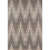 "Momeni Baja Ikat Ivory Indoor/Outdoor Area Rug (8'6 x 13') - 8'6"" x 13'"
