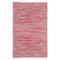 Red Reversible Chenille Flat Weave Area Rug - 9' x 12'