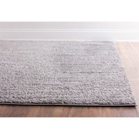 Plain Solid Shag Grey Well-woven Area Rug - 3'3 x 5'3