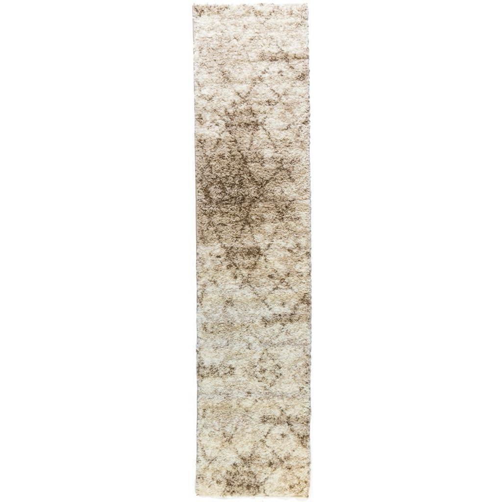 Infinity Moroccan Lattice Shag Vanilla Runner Well-woven ...
