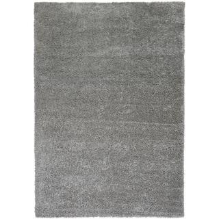 "Well Woven Plain Solid Shag Grey Area Rug - 5' x 7'2"""