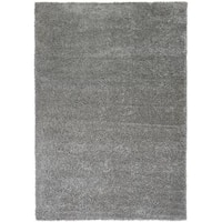 Well Woven Plain Solid Shag Grey Area Rug - 5' x 7'2""