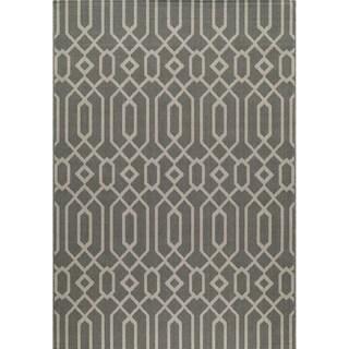 Indoor/ Outdoor Grey Links Rug (2'3 x 4'6)