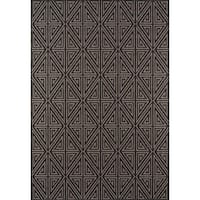 "Momeni Baja Diamonds Charcoal Indoor/Outdoor Area Rug - 1'8"" x 3'7"""