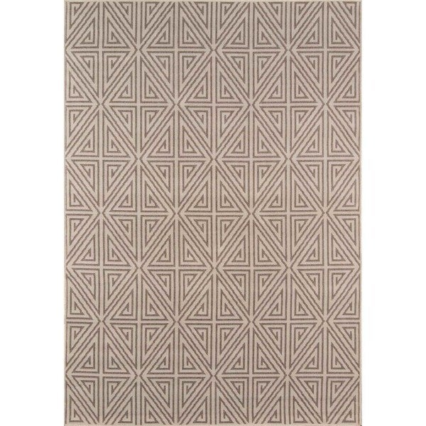 "Momeni Baja Diamonds Taupe Indoor/Outdoor Area Rug - 8'6"" x 13'"