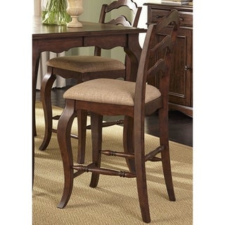 Woodland Creek Rust Russet Ladder Back Counter Height Barstool