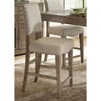 Weatherford Brownstone Caramel Upholstered Counter Height Barstool