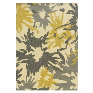 Linon Le Soliel Collection Ivory/ Yellow Mimosa Outdoor Rug (2' x 3')