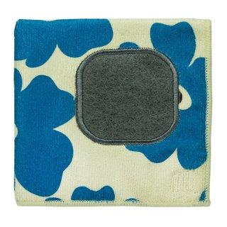 Mukitchen Mumodern Blue Poppy Microfiber Dishcloth