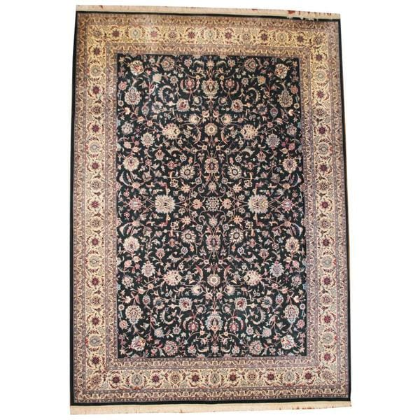 Handmade Herat Oriental Asian Tabriz Wool Rug - 9'10 x 13'10 (China)