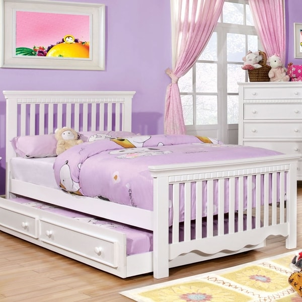 Furniture of America Yele Transitional Solid Wood Platform Youth Bed. Opens flyout.
