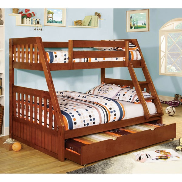 Shop Furniture Of America Perthe Mission Twin Over Full Bunk Bed