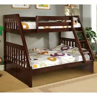 Furniture of America Perthe Mission Twin over Full Bunk Bed