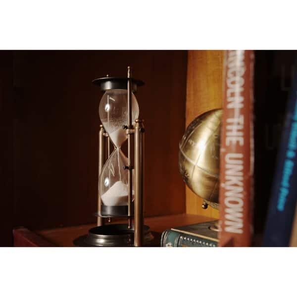 Antiqued Brass Revolving Hourglass Sand Timer Overstock 9183958