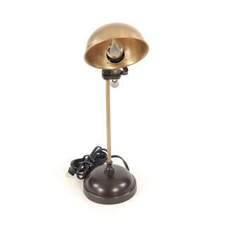Vintage-inspired Bronze-tone Brass Lamp