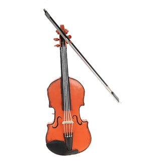 Orange Vintage Violin Decorative Accessory