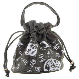 Handmade Small Drawstring Cotton Handbag (China)