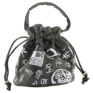 Handmade Small Drawstring Cotton Handbag (China)