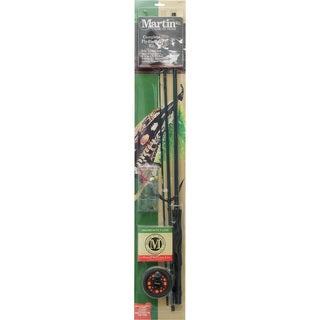 Martin Fishing Complete Fly-Fishing Kit, 8-foot - 3-piece MRT56TK 6L - Black