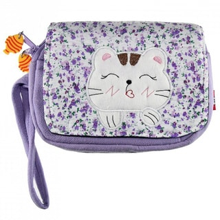 Hand-crafted Happy Cat Wristlet Bag (China)