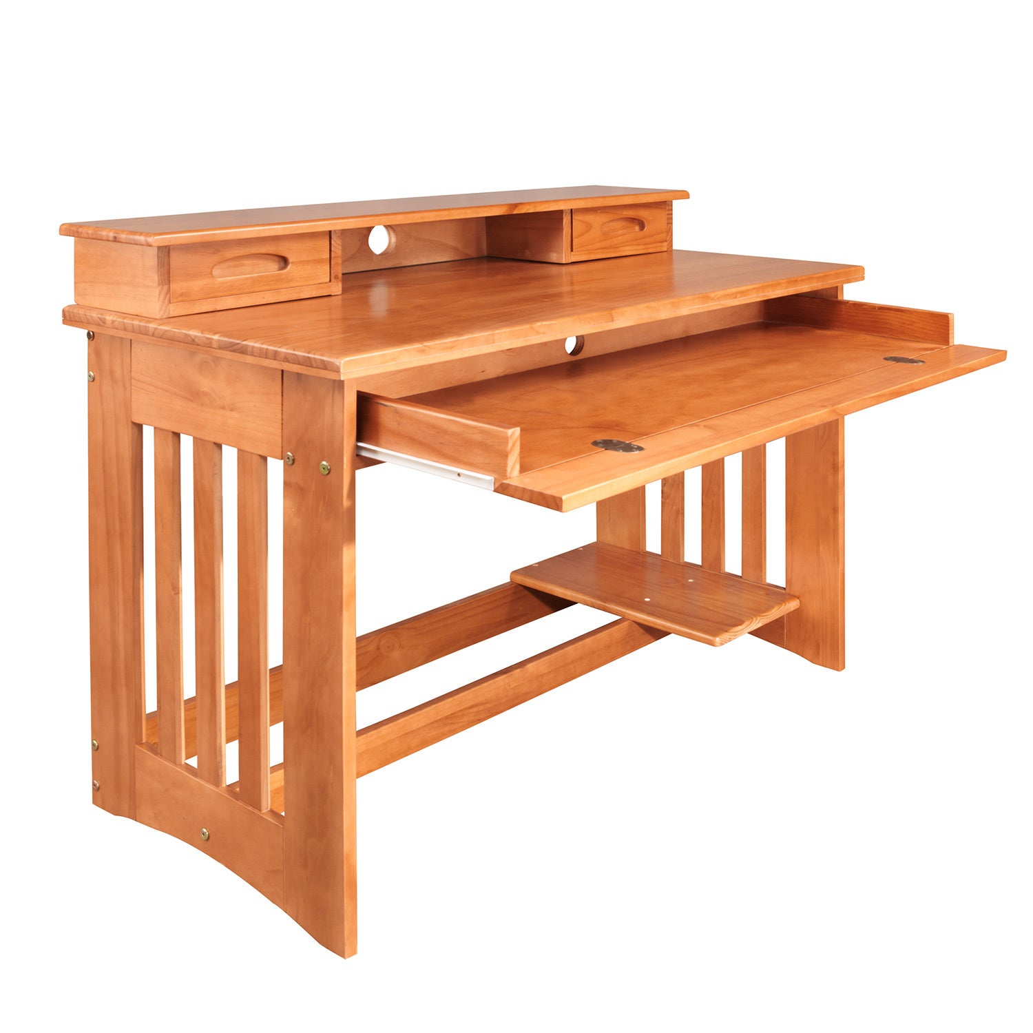 American Honey Solid Pine Student Desk and Hutch (Student...