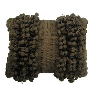 Funberry Brown Down Fill Throw Pillow
