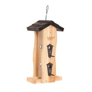 Nature's Way Advanced Bird Products CWF5 Cedar Vertical Wave Wild Bird Feeder