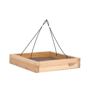 Nature's Way Advanced Bird Products CWF3 Cedar Hanging Platform Wild Bird Feeder