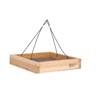 Nature's Way Advanced Bird Products CWF3 Cedar Hanging Platform Wild Bird Feeder
