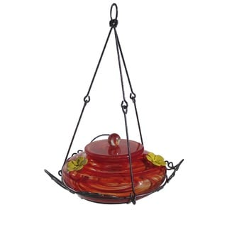 Nature's Way Advanced Bird Products Red Swirl Garden Hummingbird Nectar Feeder for Wild Birds