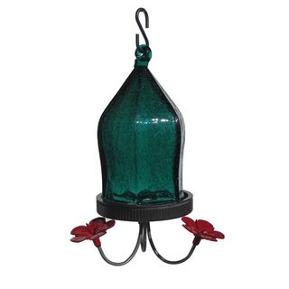 Nature's Way Advanced Bird Products JHF3 Teal Crackled Jewel Hummingbird Feeder